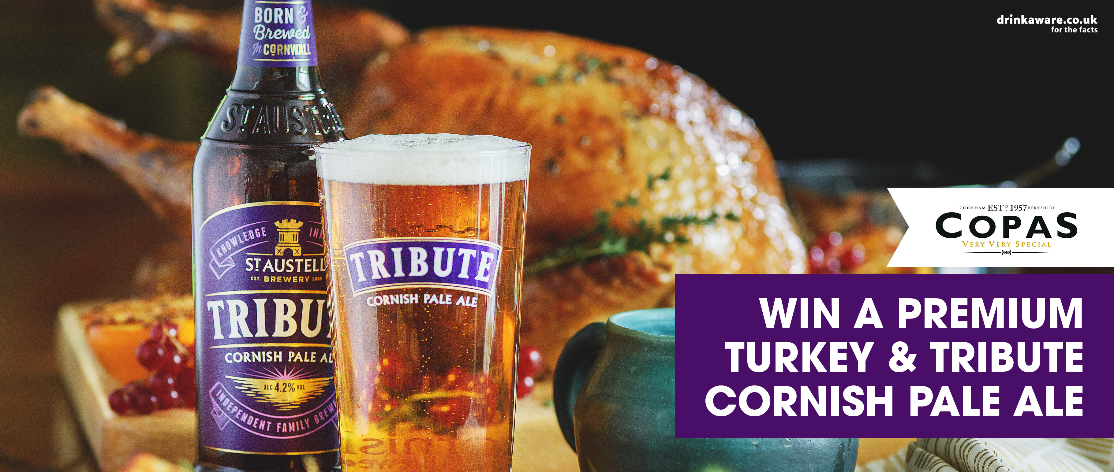Win a premium turkey and Tribute Ale